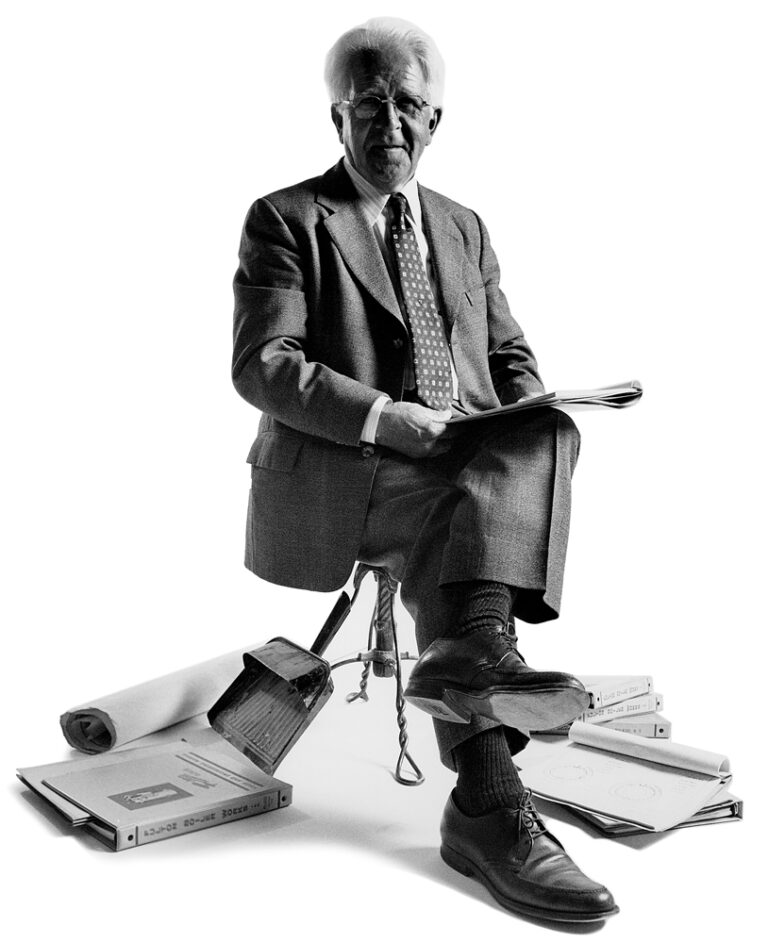 Lewis Palm Fulton founder sitting on a chair