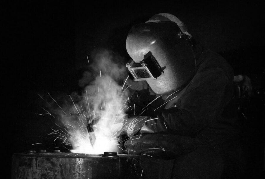 A Welder Working at Fulton Boiler
